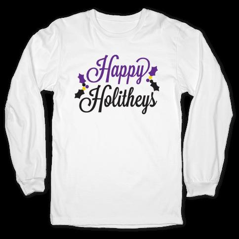 Happy Holitheys! Non-binary Holiday Long Sleeve T-Shirt