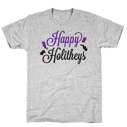 Happy Holitheys! Non-binary Holiday T-Shirt