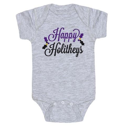 Happy Holitheys! Non-binary Holiday Baby Onesy