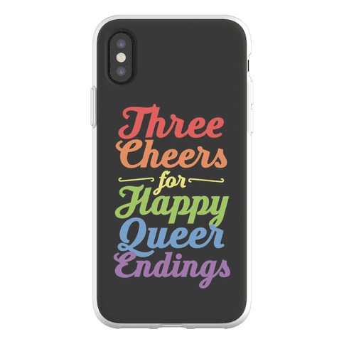 Three Cheers for Happy Queer Endings Phone Flexi-Case