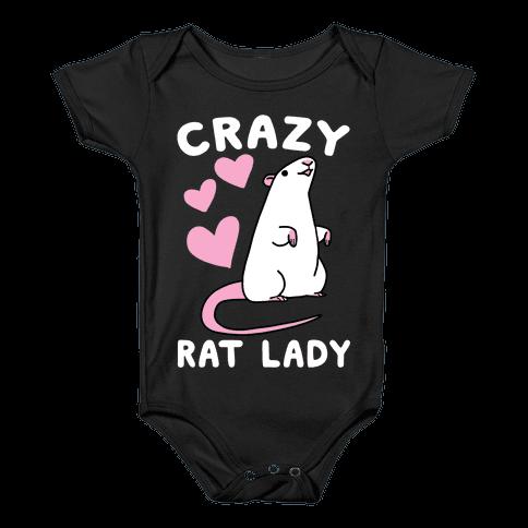 Crazy Rat Lady Baby Onesy