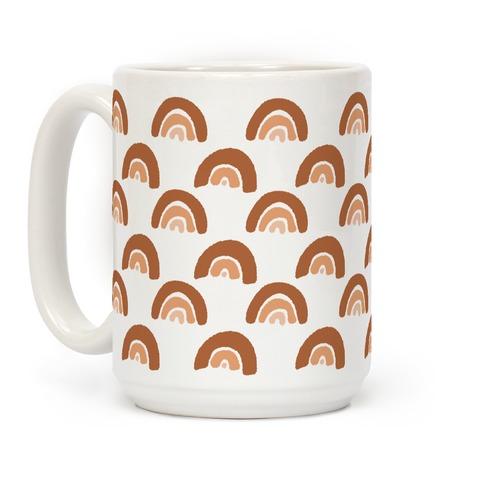 Desert Rainbow Terra Cotta Boho Pattern Coffee Mug