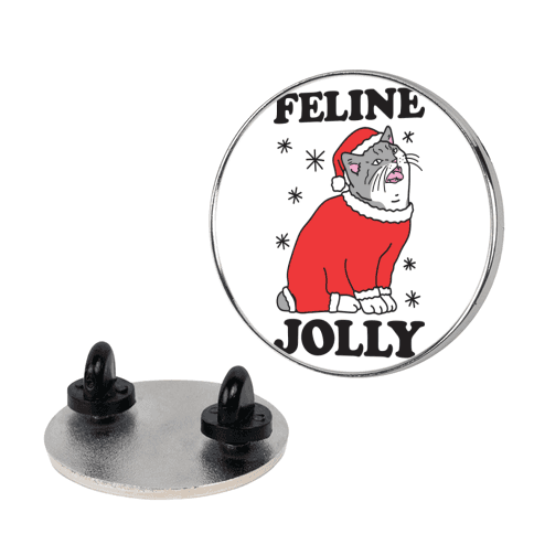 Feline Jolly Cat pin