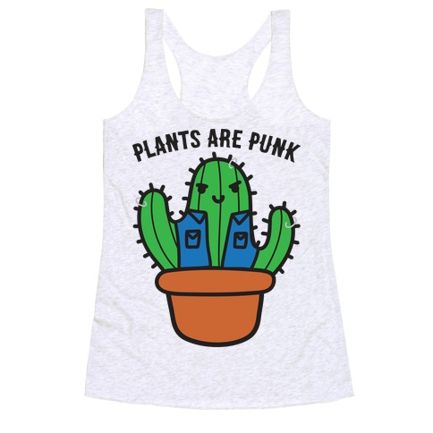 Plants Are Punk Racerback Tank Top