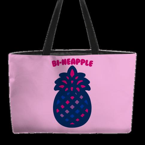 Bi-Neapple Bisexual Pride Pineapple Parody Weekender Tote