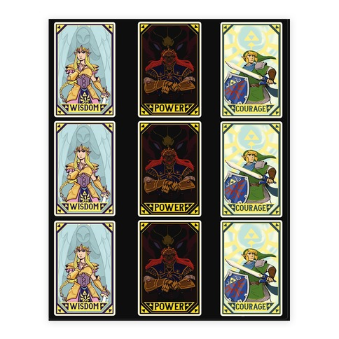 Triforce Tarot Sticker Set Sticker and Decal Sheet