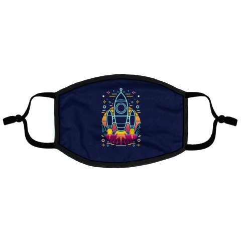 Synthwave Space Exploration Flat Face Mask