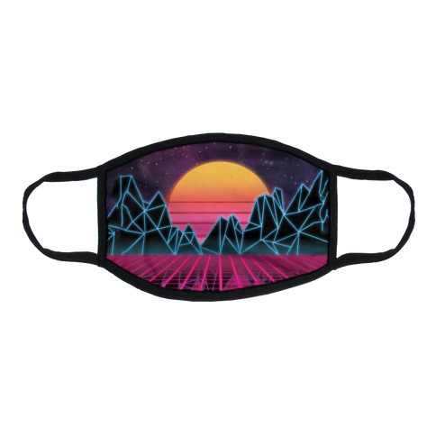 Synthwave Flat Face Mask