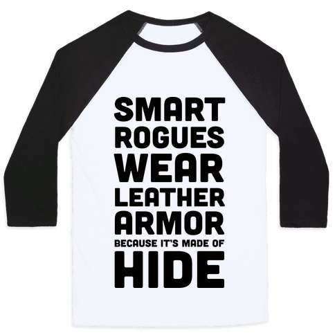 Smart Rogues Wear Leather Armor