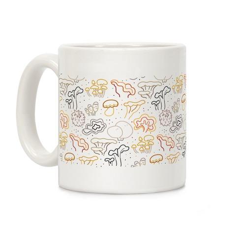 Fall Mushrooms (Dark Background)  Coffee Mug