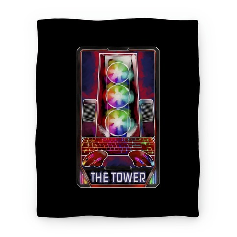 The Gaming Tower Tarot Card Blanket