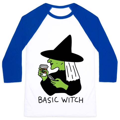 Basic Witch Baseball Tee