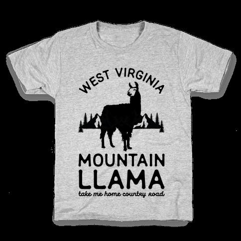 Mountain Llama Take Me Home Kids T-Shirt