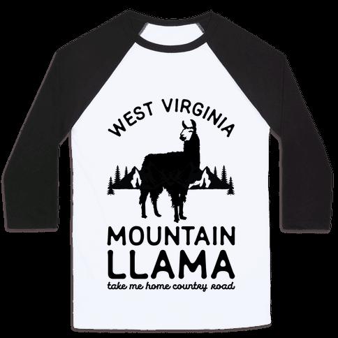 Mountain Llama Take Me Home Baseball Tee