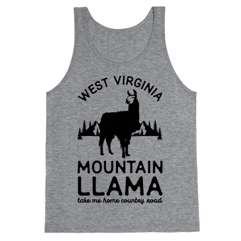 Mountain Llama Take Me Home Tank Top