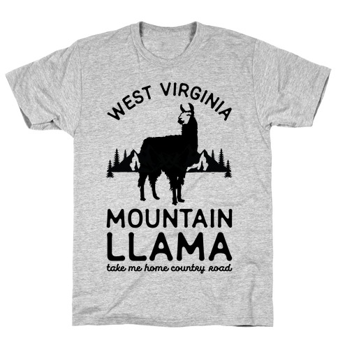 Mountain Llama Take Me Home Mens T-Shirt