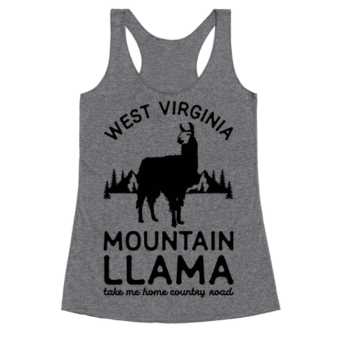 Mountain Llama Take Me Home Racerback Tank Top