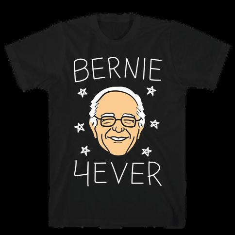 Bernie 4ever (White) Mens T-Shirt