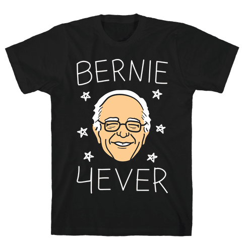 Bernie 4ever (White) Mens T-Shirt