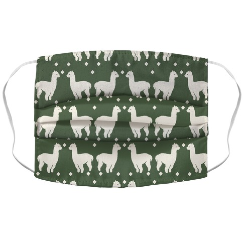 Llama Chive Boho Pattern Accordion Face Mask