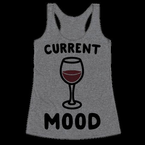 Current Mood Wine Racerback Tank Top