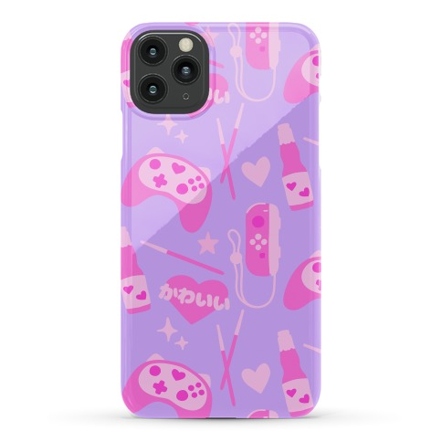 Kawaii Gamer Pattern Phone Case