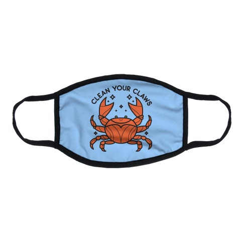 Clean Your Claws Crab Flat Face Mask
