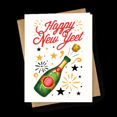 Happy New Yeet Greeting Card