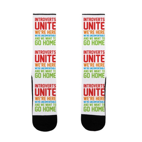 Introverts Unite Sock