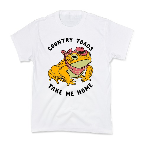 Country Toads Take Me Home Kids T-Shirt