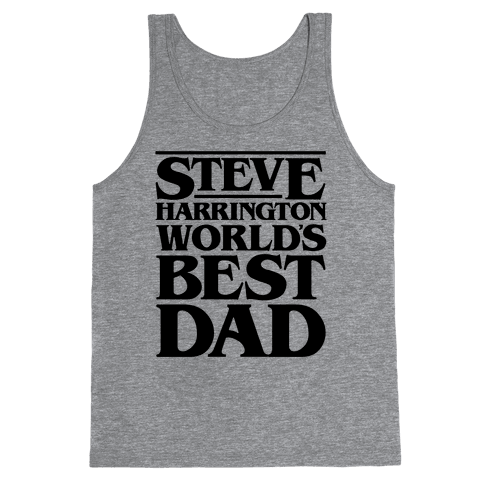 Steve Harrington World's Best Dad Parody Tank Top
