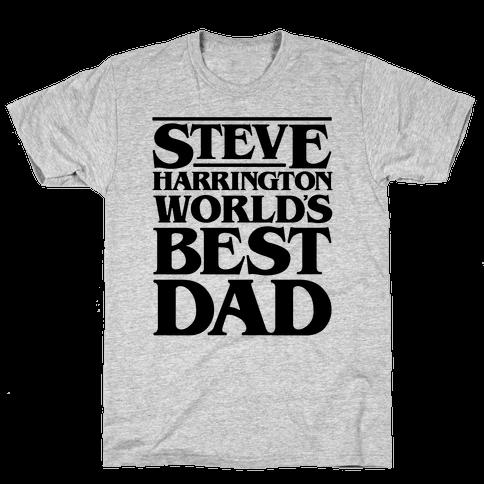 Steve Harrington World's Best Dad Parody Mens T-Shirt