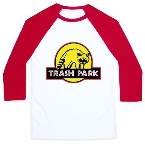 Trash Park Raccoon Parody Baseball Tee