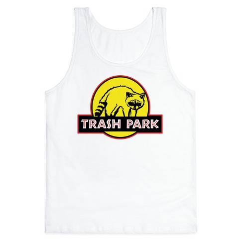 Trash Park Raccoon Parody Tank Top