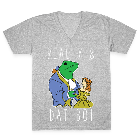 Beauty And Dat Boi V-Neck Tee Shirt