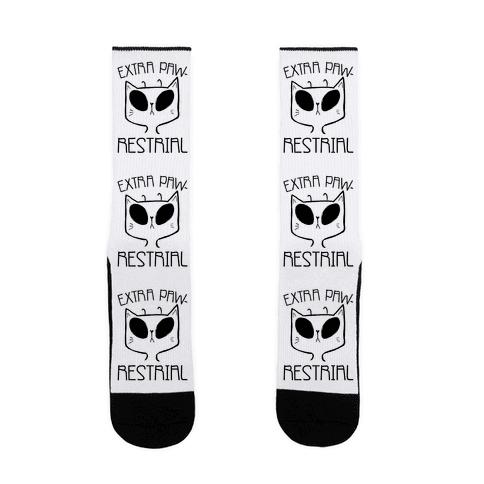 Extra Pawrestrial Sock