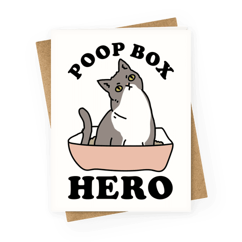 Poop Box Hero Greeting Card