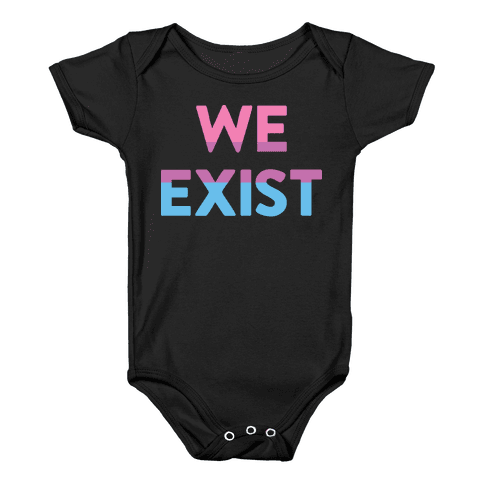 We Exist Bisexual Baby Onesy