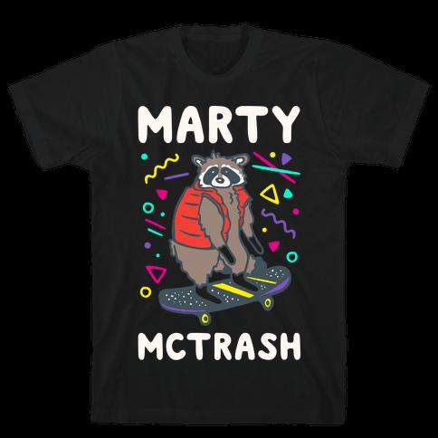 Marty McTrash Raccoon Parody White Print Mens/Unisex T-Shirt