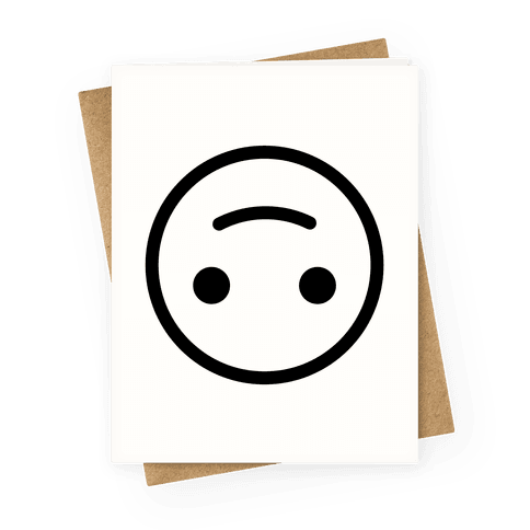 Upside-down Smiley Greeting Card