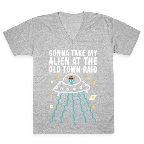Old Town Raid V-Neck Tee Shirt