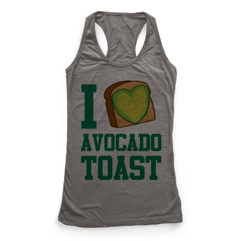 I Love Avocado Toast Racerback Tank Top