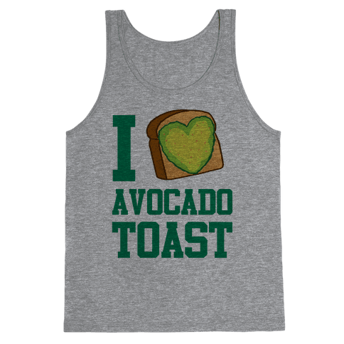 I Love Avocado Toast Tank Top