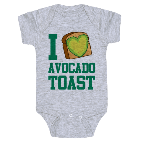 I Love Avocado Toast Baby Onesy
