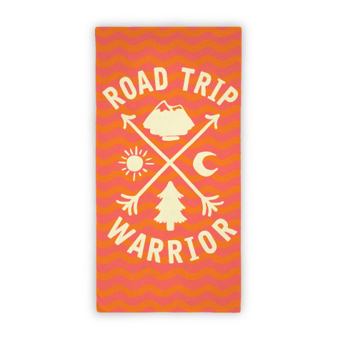 Road Trip Warrior Beach Towel
