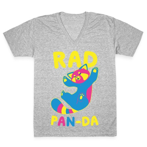 Rad Pan-da V-Neck Tee Shirt