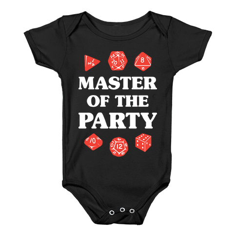 Master of the Party Baby Onesy