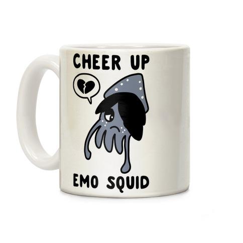 Cheer Up, Emo Squid Coffee Mug