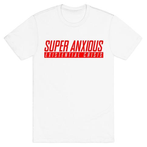 Super Anxious Existential Crisis SNES Parody T-Shirt