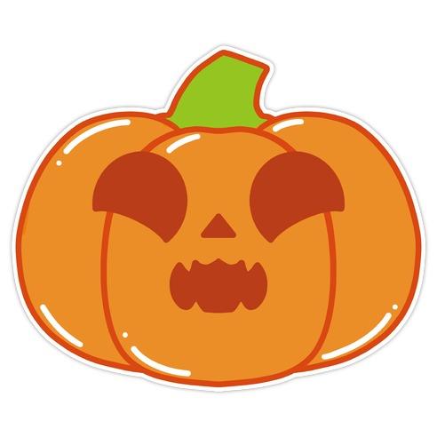 Kawaii Excited Pumpkin Die Cut Sticker